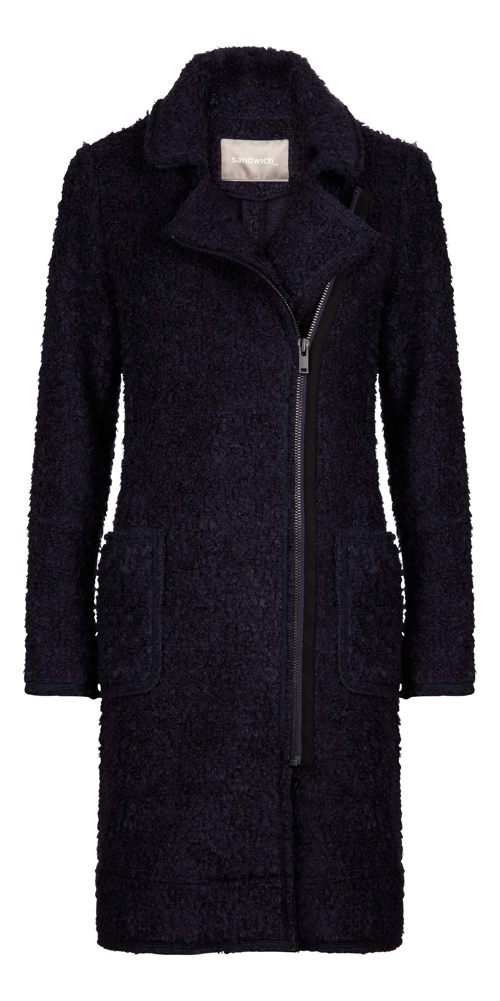 Long boucle coat