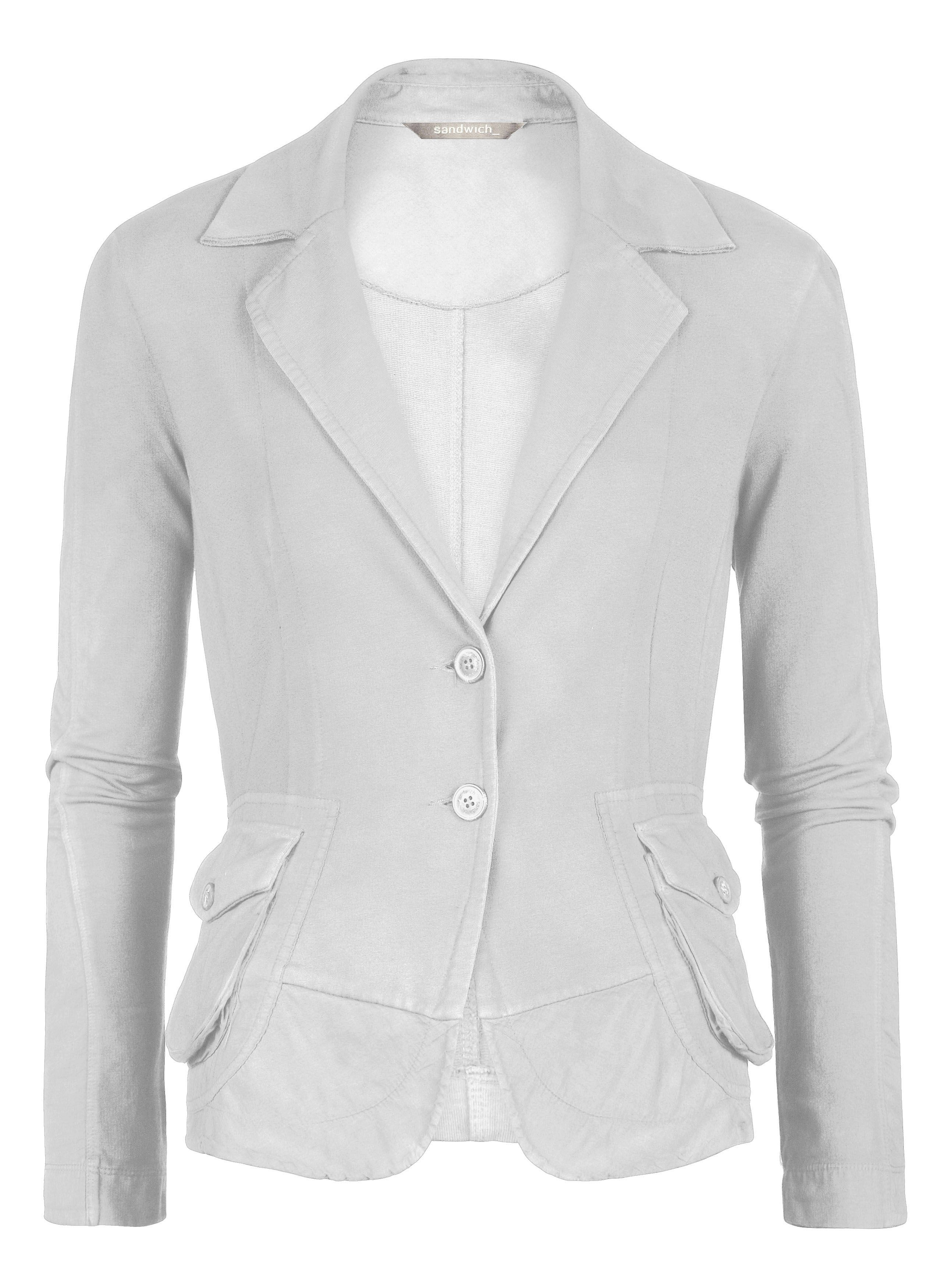 Cotton jersey blazer