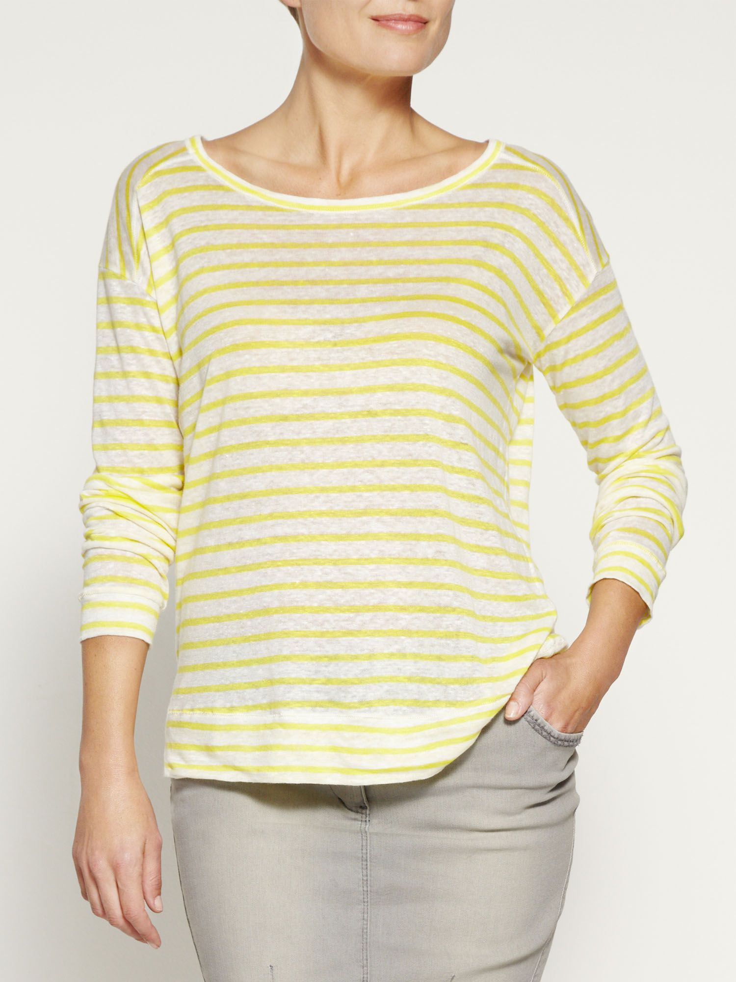 Linen stripe jumper
