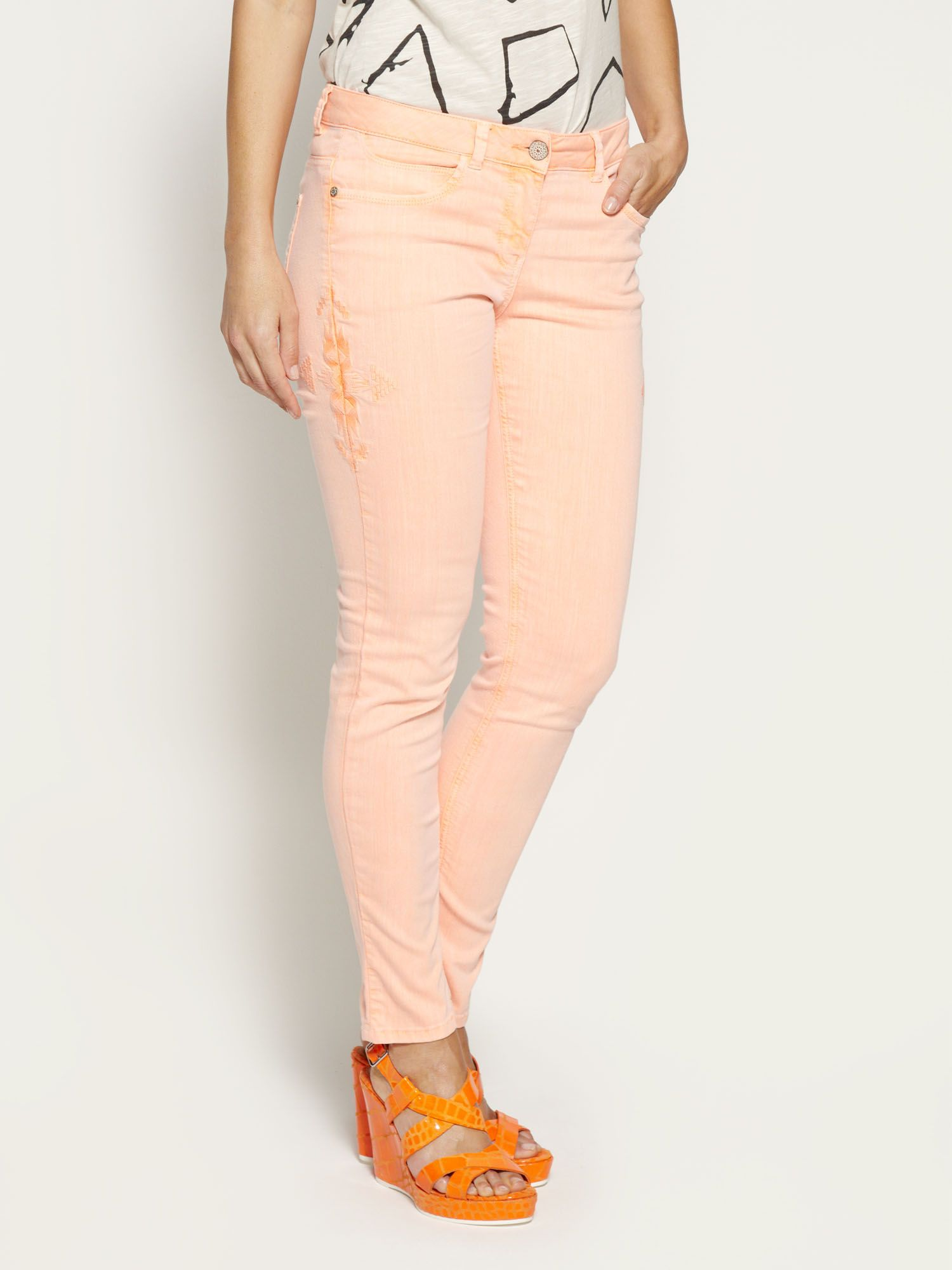 Cotton stretch skinny jeans