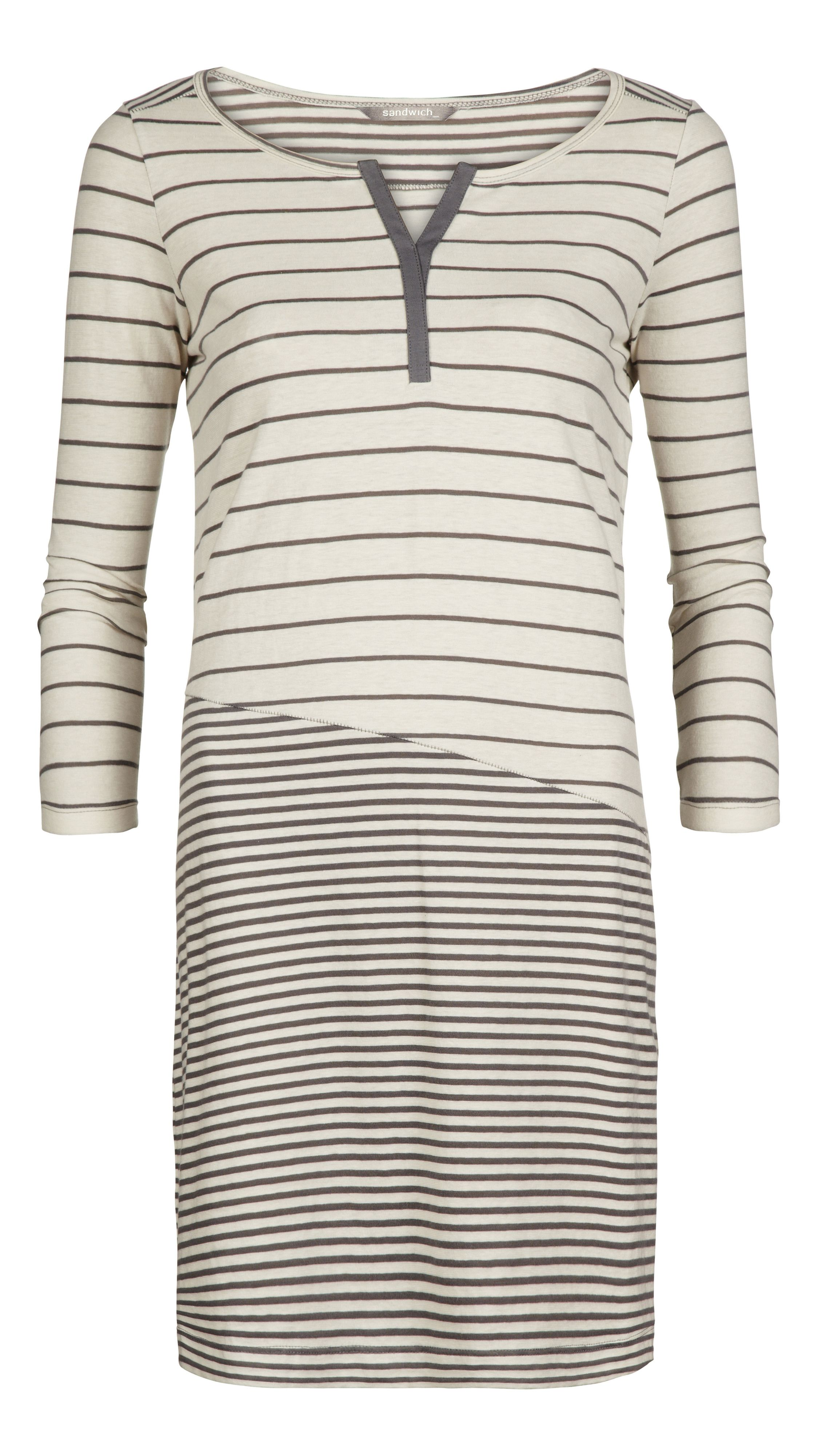 Stripped cotton stretch dress