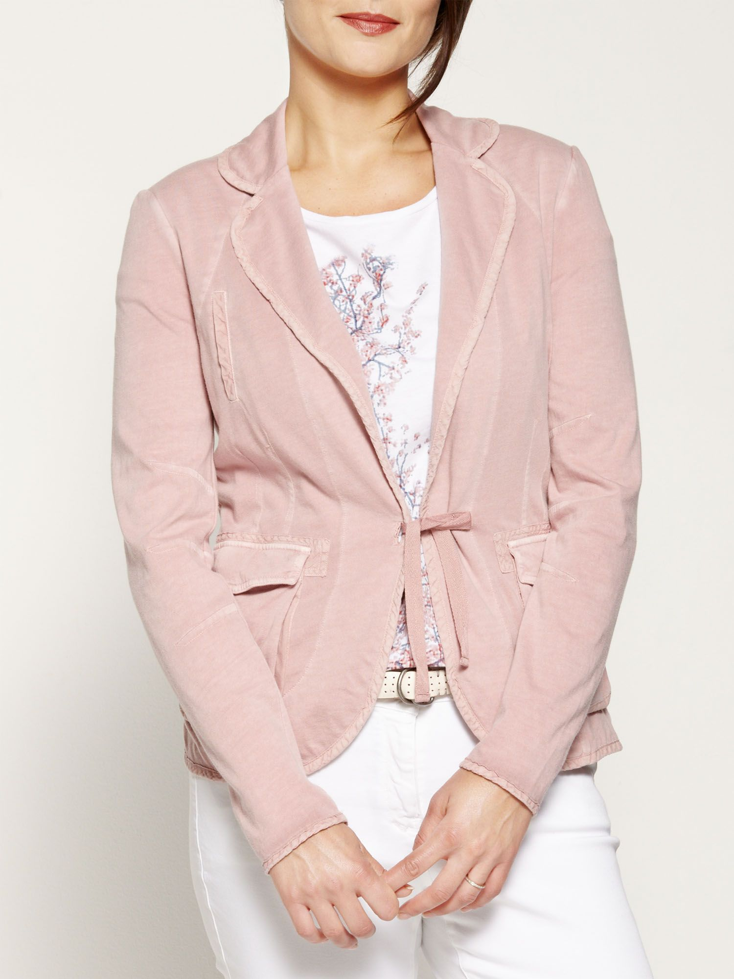 Stretch jersey blazer