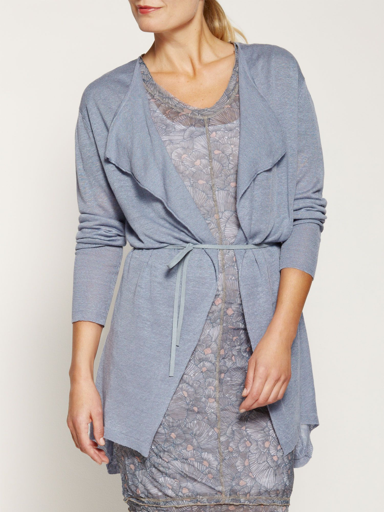 Lightweight linen long cardigan