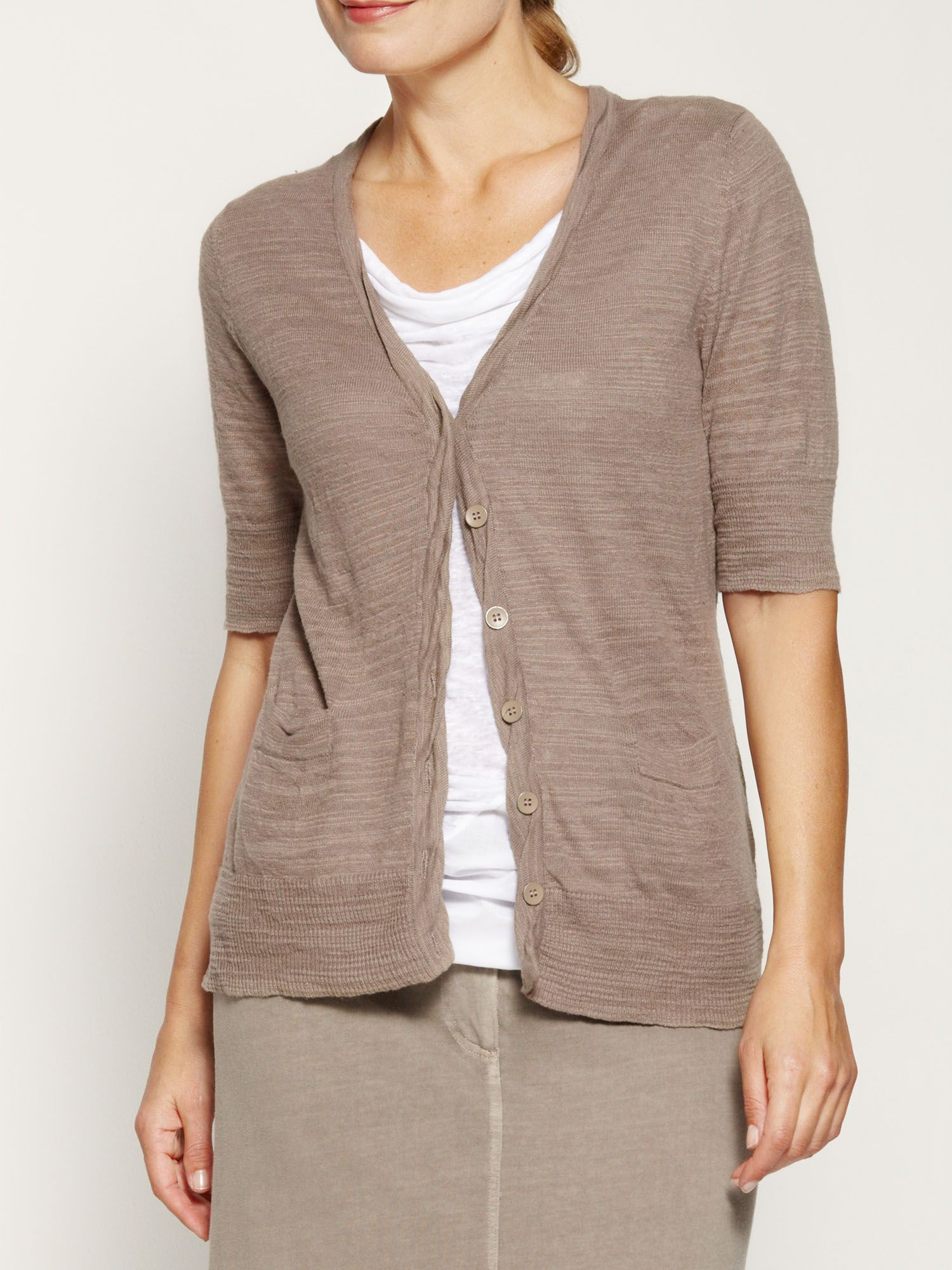 Crinkled cotton cardigan
