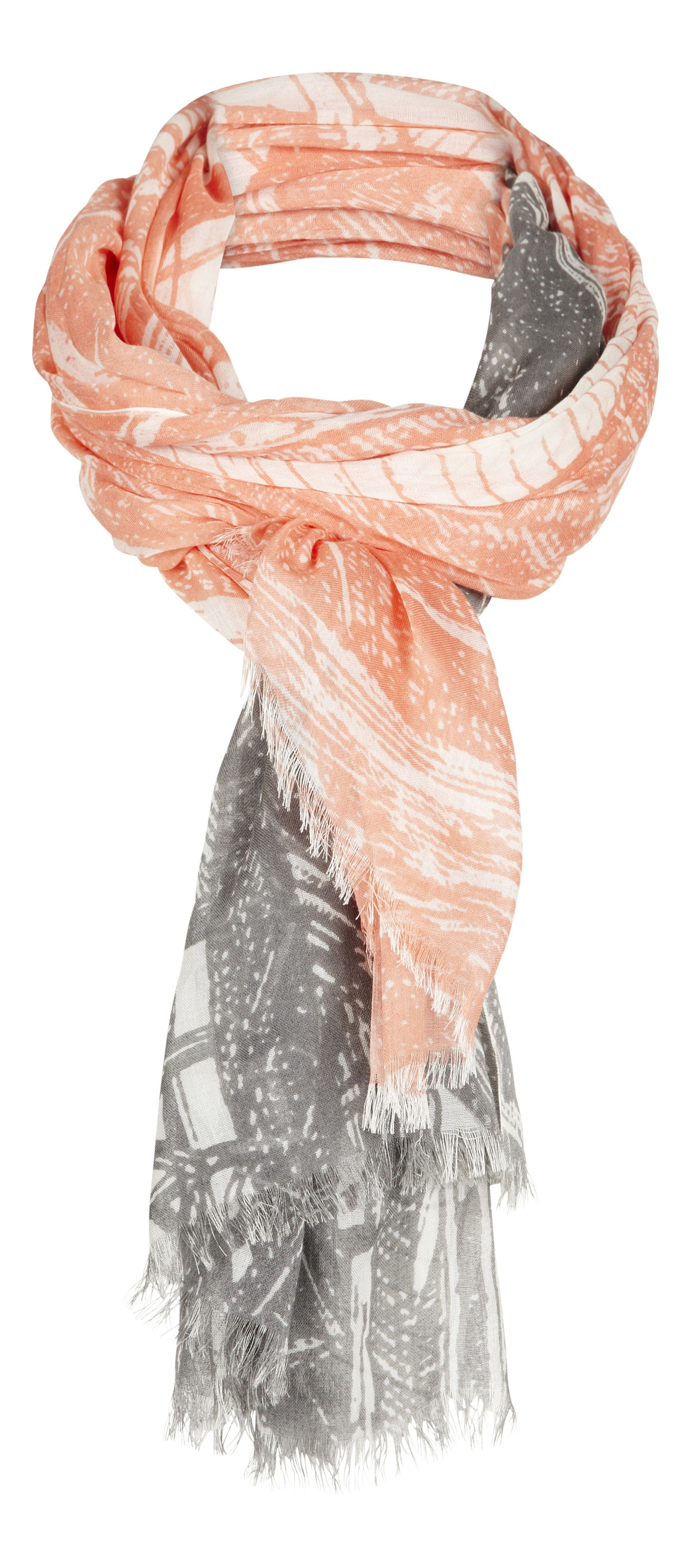 Two colour print scarf