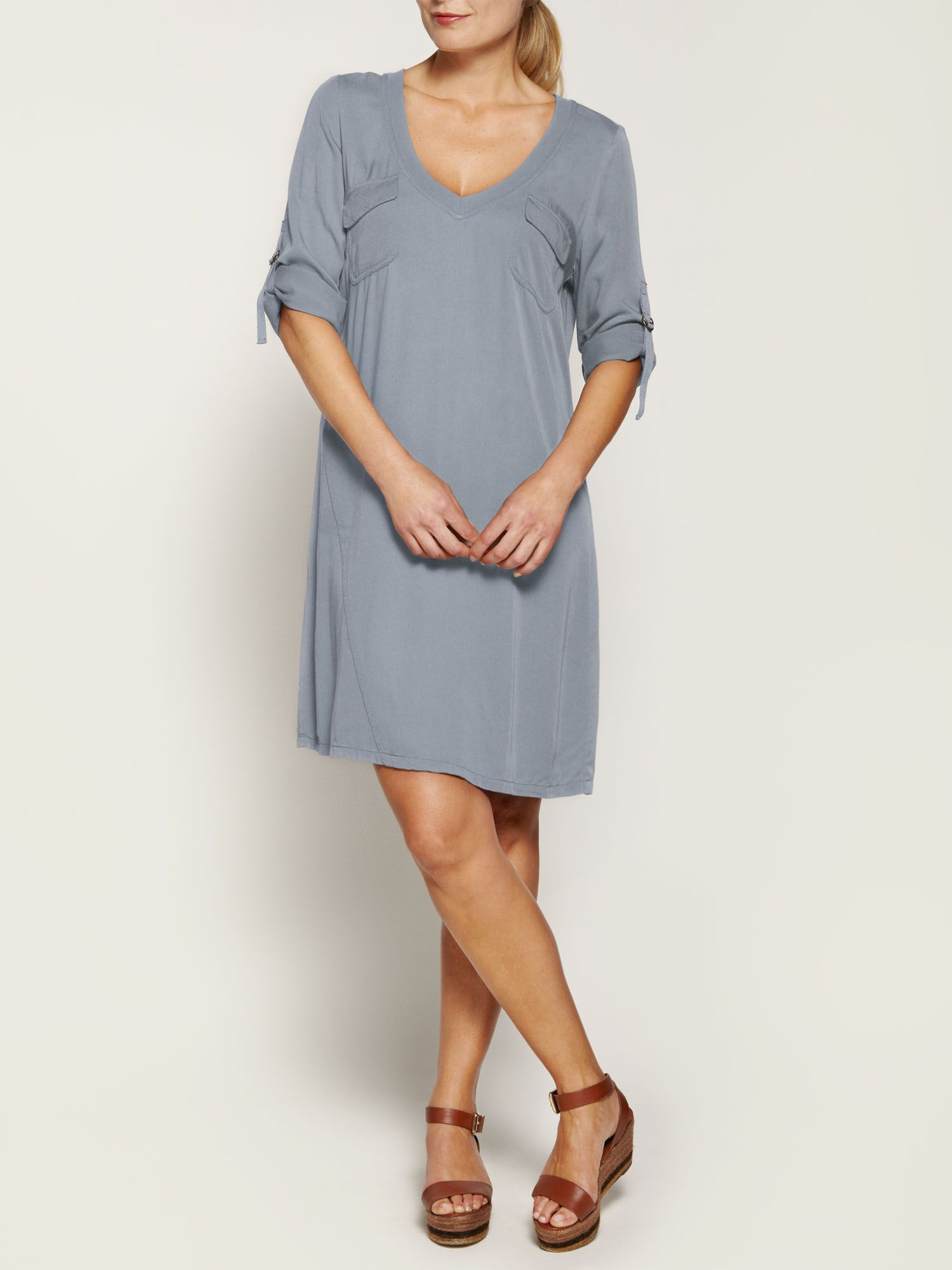 Casual twill dress