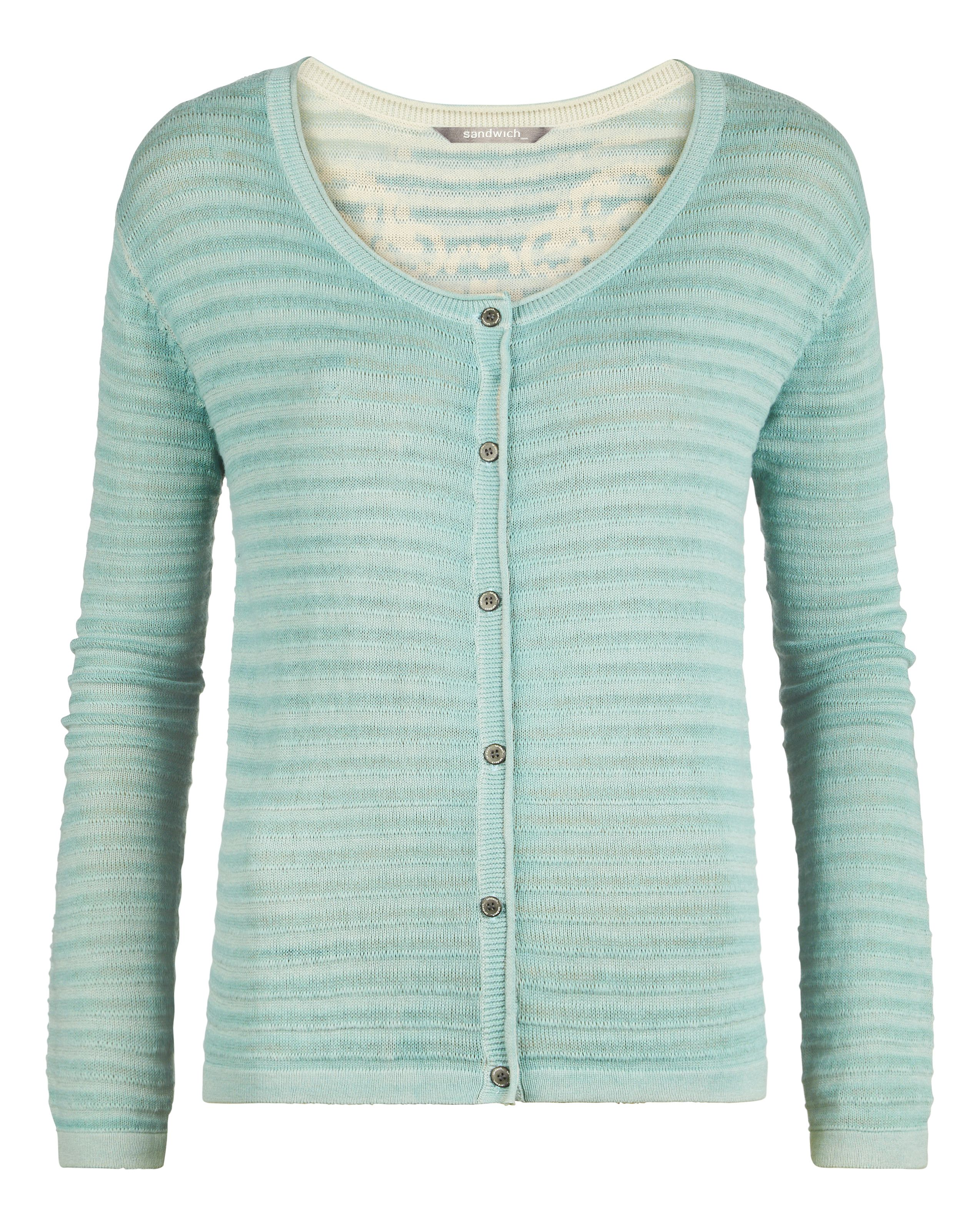 Cotton rib cardigan