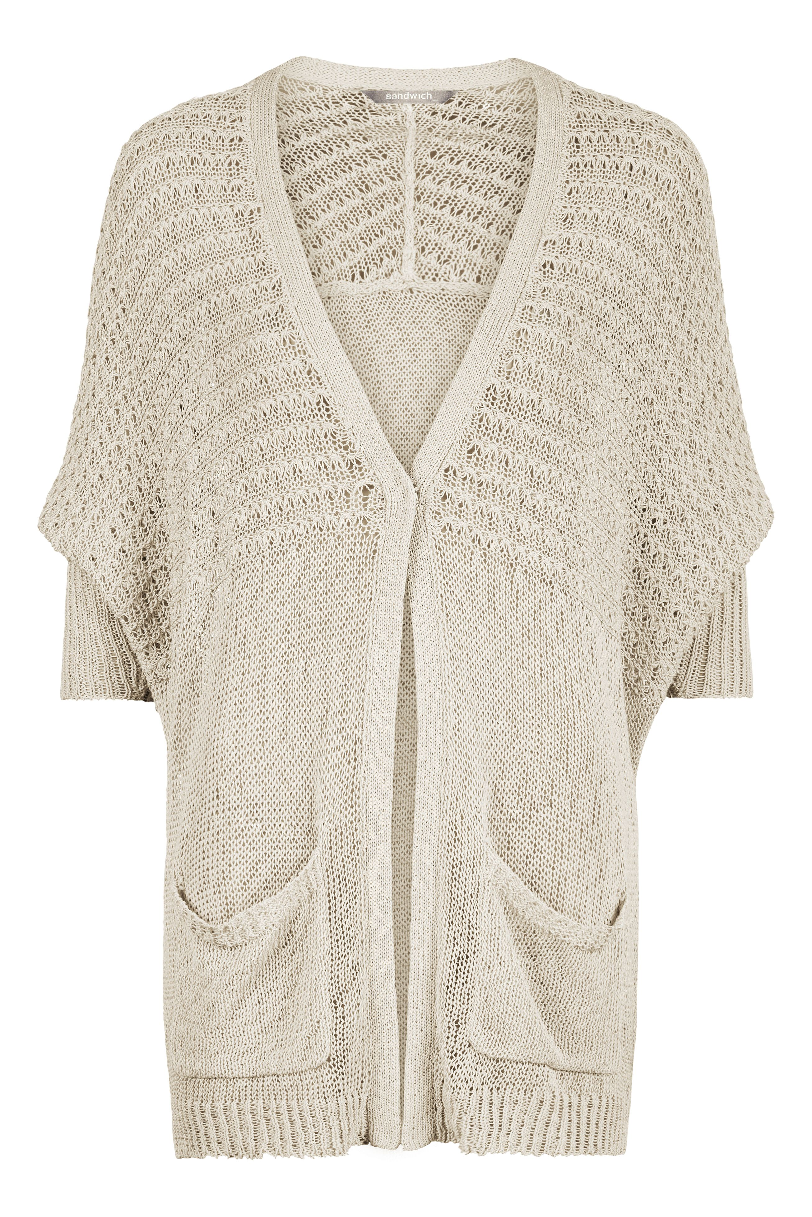 Open knit cotton cardigan