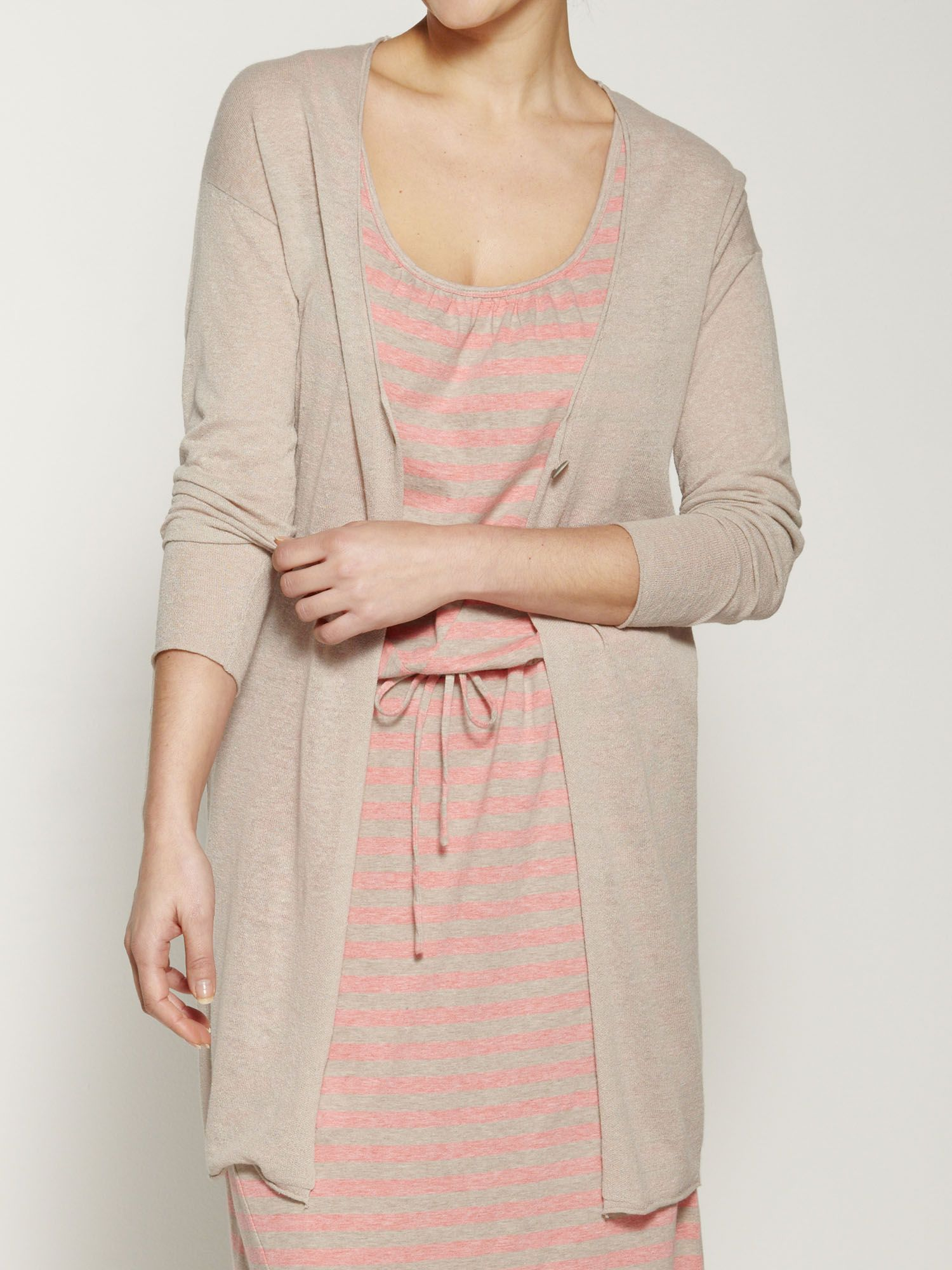 Lightweight linen mix cardigan
