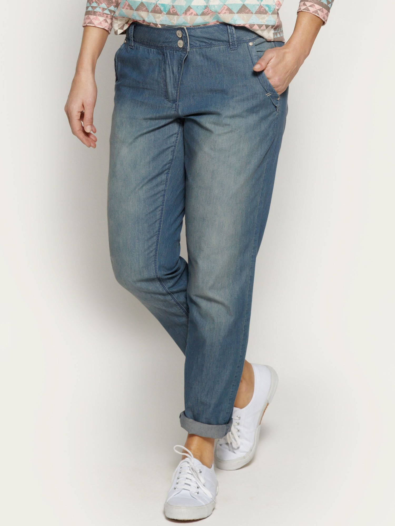 Soft cotton chambray trousers