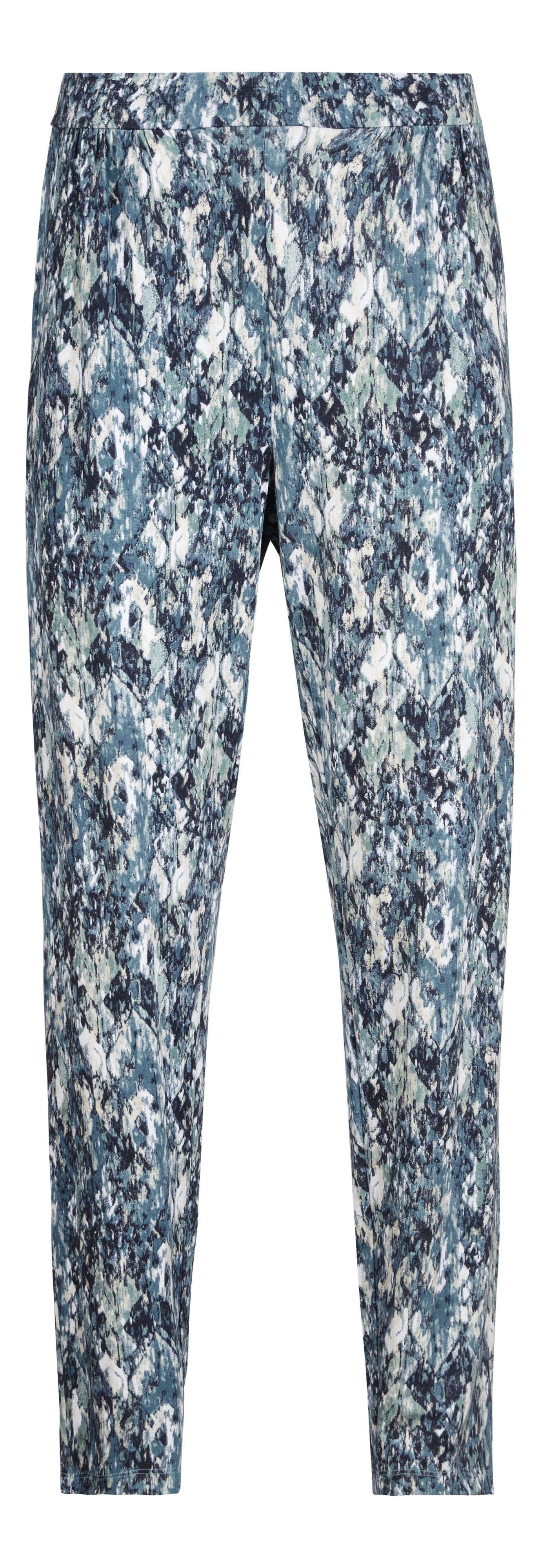 Jersey printed trousers