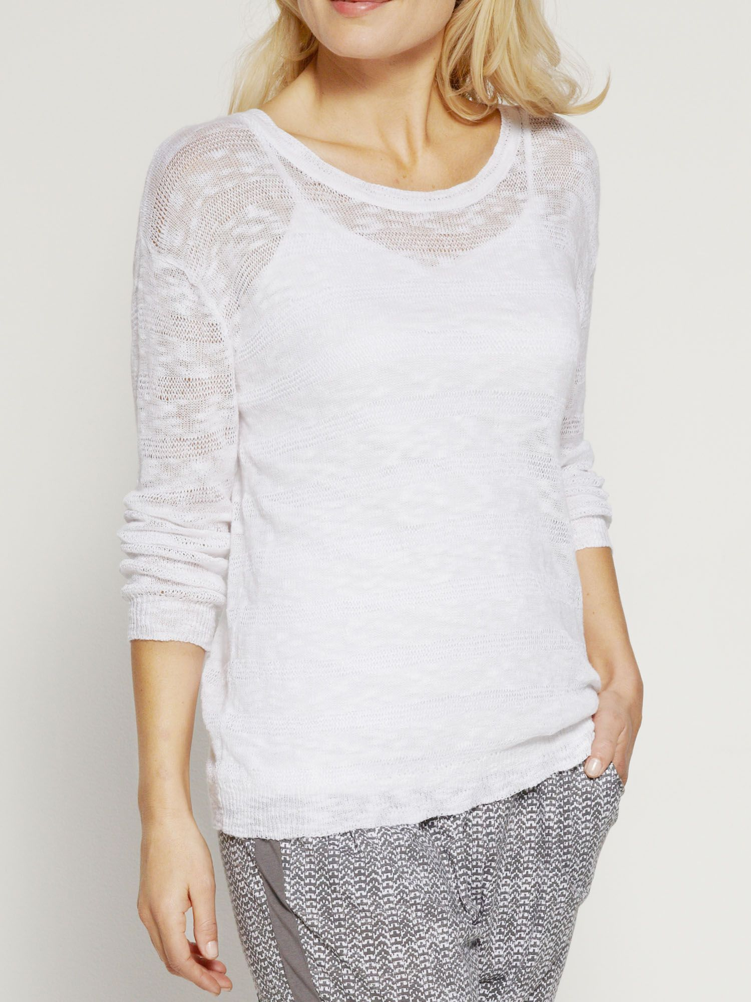 Cotton and linen mix jumper