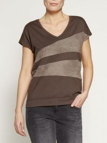 Irregular stripes t-shirt