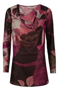 Autumn leaves print top