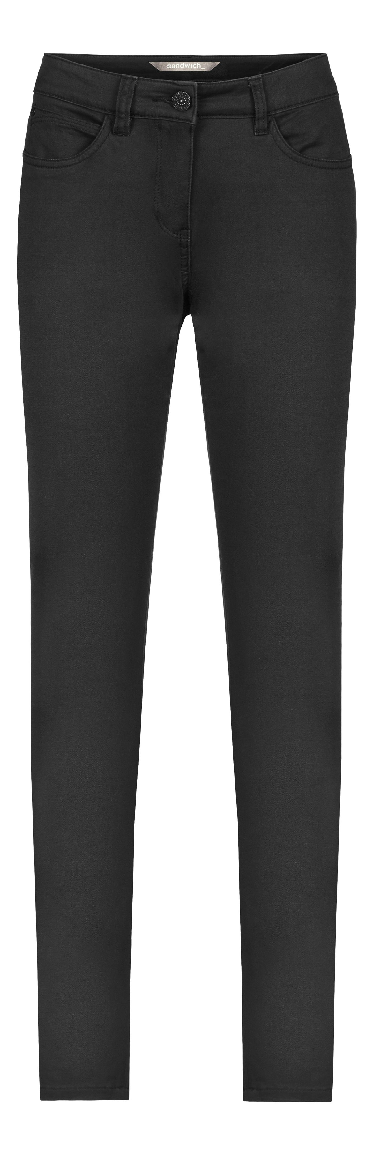 Sandwich Sandwich Cotton stretch skinny jeans, Black
