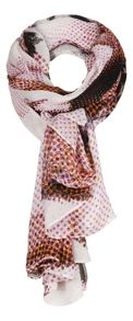 Flower dots printed scarf