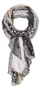 Contrast printed scarf