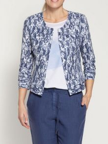 Ikat printed jacket