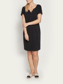 Sandwich Cotton dress with front pockets