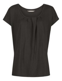 Pleat detail T-shirt