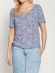 Graphic paint printed top