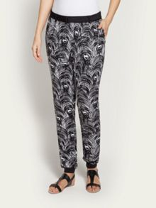 Peacock feathers printed trouser