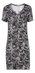 Sandwich Peacock feathers printed dress