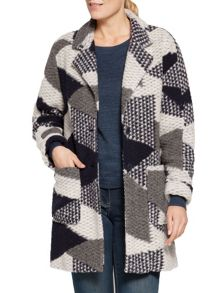Sandwich Jacquard coat