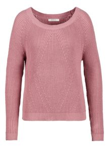 Nostalgic rose cotton jumper