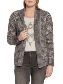 Sandwich Furry knit cardigan