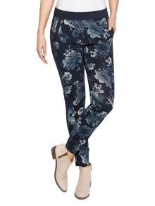 Photo flowers printed trouser