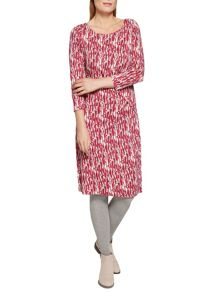 Sandwich Geometric print jersey dress
