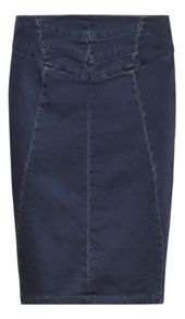 Sandwich Stretch denim skirt