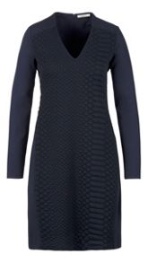 Quilted front panel dress