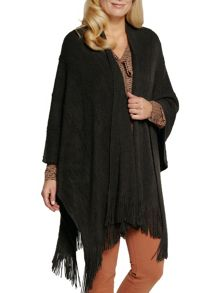 Sandwich Poncho with fringe