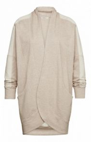 Marled cotton jersey cardigan