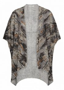 Oversized printed cardigan