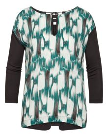 Sandwich Ikat printed top