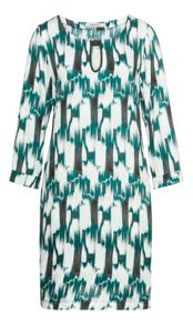 Sandwich Ikat printed dress