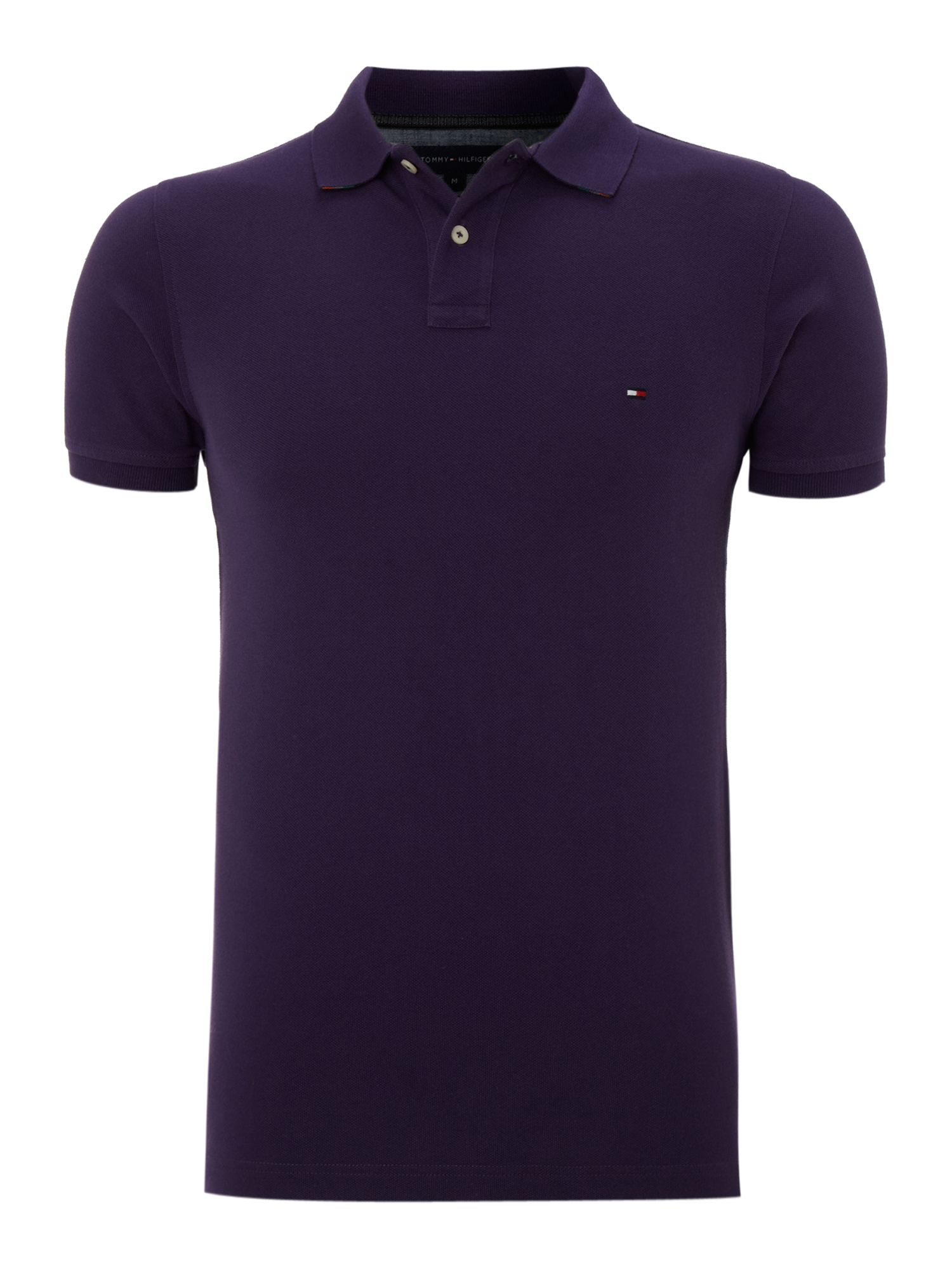 Slim fit washed polo shirt