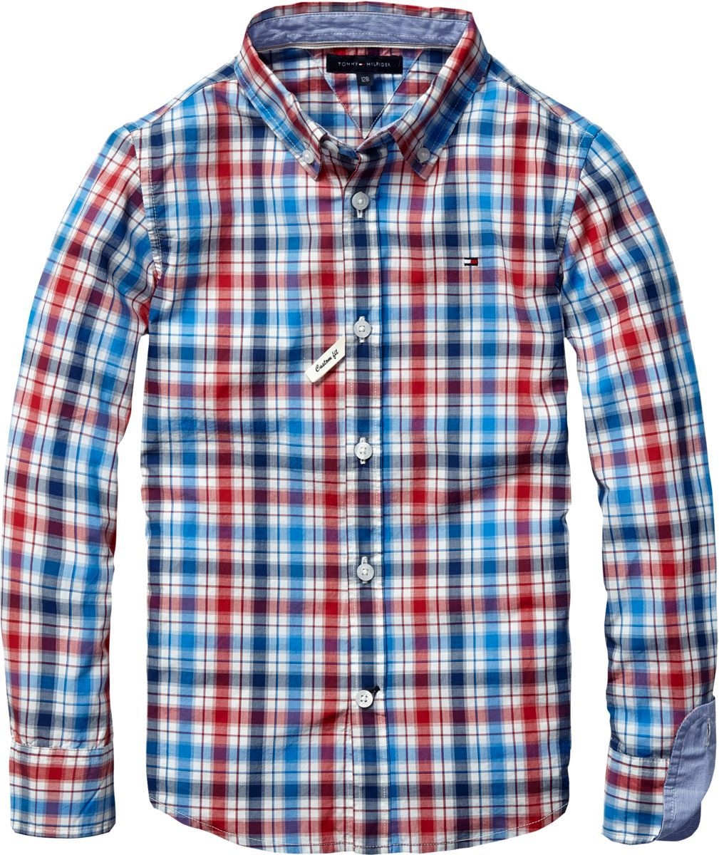 Boy`s bookworm check shirt
