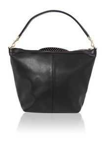 Faya black hobo bag