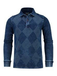 Boys Long sleeve Argyle Rugby