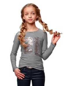 Girls T-Shirt Novi Stripe