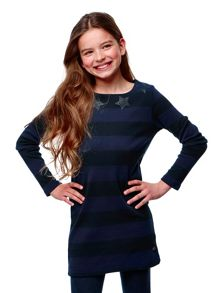 Girls Dress Ivy Stripe
