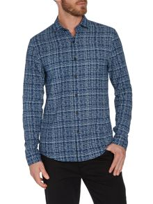 Whisker Long Sleeve Check Shirt
