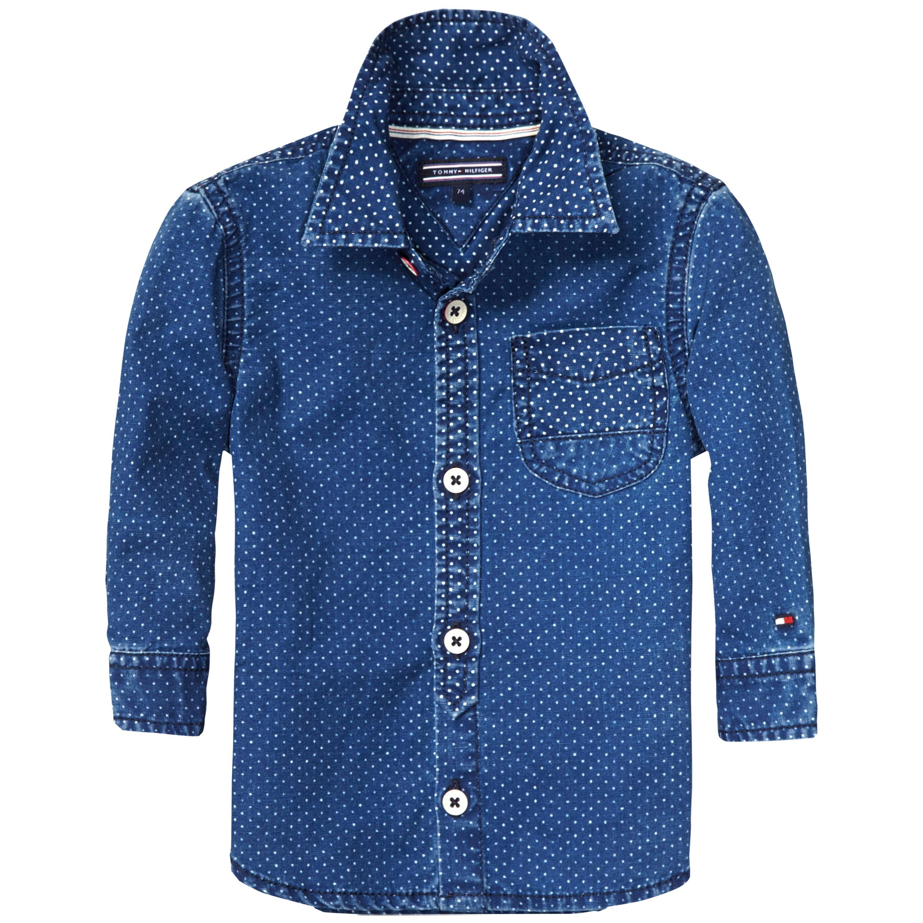 Boy`s indigo Dot Shirt
