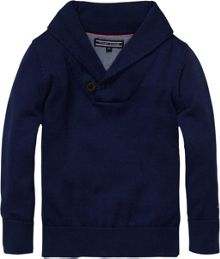 Boy`s pacific shawl neck sweater