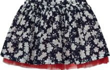 Girl`s marina flower mini skirt