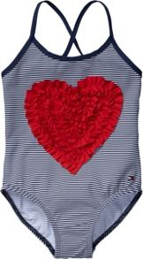 Girl`s heart mini swimsuit